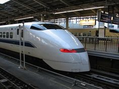 high speed rail  Train exterior white asian streamline big fast tough strong
