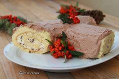 Tronchetto di Natale con crema al torrone
