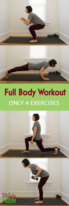 Full Body Workout - Just 4 exercises!