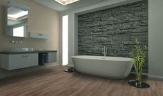 Use this guide to the hottest 2020 bathroom flooring trends and find durable, stylish bathroom flooring ideas that will stay trendy for years to come. Bathroom Flooring Options, Best Bathroom Flooring, Luxury Vinyl Tile Flooring, Bathroom Countertops, Luxury Vinyl Plank, Flooring Ideas, Pirate Bathroom Decor, Bathroom Rules, Bathroom Ideas