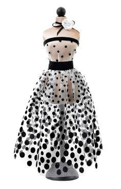 Mannequin. Статуэтка мини-манекен в интерьер в платье в горошек ручной работы.