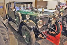 As he entered the gates, a car -- an unfamiliar green Daimler (Hooper Limousine), a woman seated primly beside the chauffeur -- left them. Vintage Cars, Antique Cars, Cars Motorcycles, Hot Rods, Cool Cars, Classic Cars, Bike, Vehicles, Gates