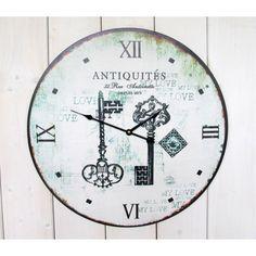 Hodiny s motivem klíčů Clock, Home Decor, Lava, Watch, Decoration Home, Room Decor, Clocks, Home Interior Design, Home Decoration