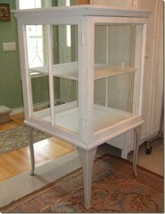 Super AWESOME cabinet made from Old windows!