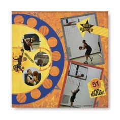 Primary Basketball Additions Scrapbook Layout Idea from Creative Memories