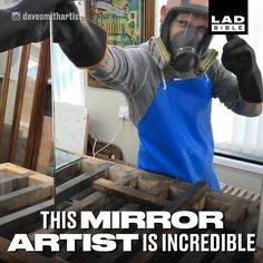 Watching how mirrors are made is so interesting!