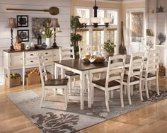 White Dining Room Table Ashley Furniture Kitchen Sets Home Chair Designs Casual Rooms