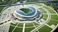 Russian stadiums for the World Cup in 2018