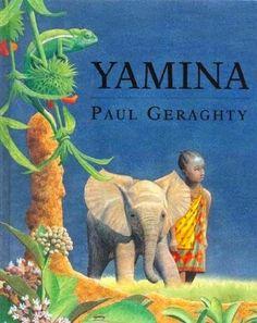 Y de YAMINA. Yamina, la niña africana que protagoniza esta historia, quiere ver elefantes y sueña con ser cazadora. Un día va a buscar miel con su abuelo y, correteando en la maleza, se pierde. Vivirá una intensa aventura llena de emociones y peligros. Sola, tendrá que poner en práctica todos los consejos que sus padres y su abuelo le habían enseñado para hacer frente a los peligros de la selva. Las originales ilustraciones realistas recrean el color y la luz del paisaje africano.