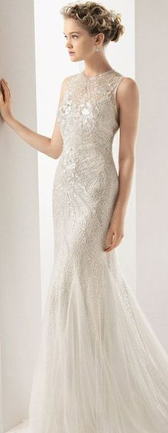 Ulric from Soft by Rosa Clara Bridal 2014. Available for special order at Madison Town and Country. With complimentary alterations, pressing, and storage.