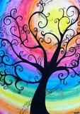 Creepy Swirly Rainbow Tree - Water Color Canvas by BubbleFab,Color Tree NEW Diamond Painting Kit -Diamond Paintings, Diamond Paintings StoreDiamond Painting Kit Full Drill, C-TOP DIY Rhinestone Crystal Embroidery Pictures Cross Stitch for Home Room D Arte Fashion, Rainbow Art, Rainbow Painting, Rainbow Swirl, Whimsical Art, Tree Art, Painting Inspiration, Tattoo Inspiration, Diy Art