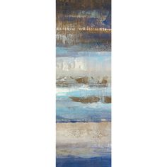 Portfolio Canvas Decor 'Blues Horizon Panel I' Gallery Wrapped Canvas by Michael Longo (Set of 2)