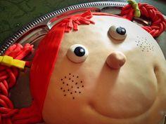 Pippi Langstrumpf-Torte mit Schokofüllung