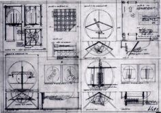 Sebok Stefan 1930 Construction drawing for Light Prop for an Electric Stage…