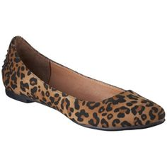 Women's Mossimo® Vikki Pointed Toe Ballet Flats - Animal Print at Target! love these
