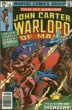 #1 Fn+ 6.5 1977 Series Marvel Comics John Carter Warlord Of Mars