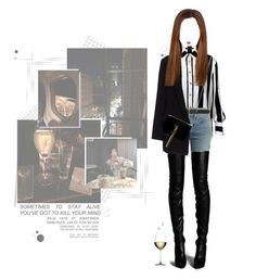 """""""«CINDI - THE NIGHT LIFE»"""" by cw-entertainment ❤ liked on Polyvore featuring Post-It, Balmain, RE/DONE, M&Co, Twin-Set, Yves Saint Laurent, Lime Crime and Nachtmann"""
