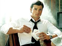 Tom Welling - now this is a man we can both agree on - as long as you agree!  LOL!   just teasin @Shelly Parry    - I mean who doesn't love themselves some Superman. ~I do have my own Superman but this guy... he has a warm spot on my board and probably in my dreams now!  ...said Shelly