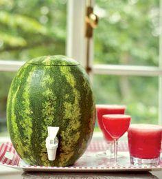 How to Make a Watermelon Keg | via Tastebook Blog