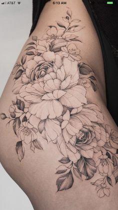 tattoos for women's backs - tatoo feminina Hip Thigh Tattoos, Belly Tattoos, Stomach Tattoos, Finger Tattoos, Body Art Tattoos, Small Tattoos, Sleeve Tattoos, Women Thigh Tattoos, Tatoos