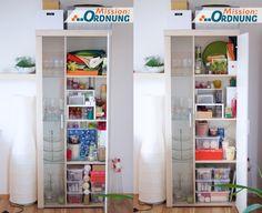 Mission:ORDNUNG: Ordnung im Wohnzimmer - Vitrinenschrank
