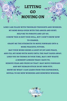 Letting go and moving on from past hurt - The Wateringwell Prayer For Forgiveness, Prayer Scriptures, Bible Prayers, Faith Prayer, God Prayer, Prayer Quotes, Faith Quotes, Bible Verses, Religious Quotes
