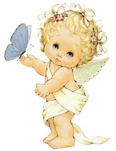angelito con mariposa