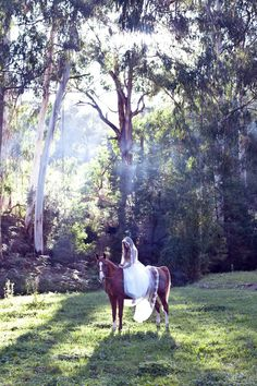 Arrive on horseback