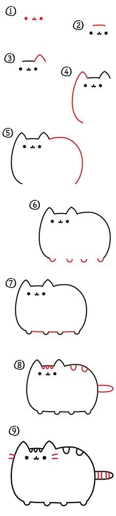 How to draw Pusheen the cat!!!!!!! #CatDibujo #pusheencatsdiy