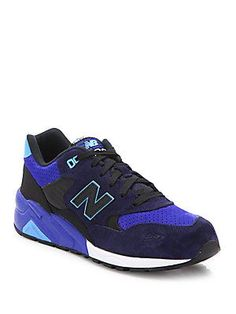 New Balance Elite Edition 580 Sound & Stage Pig-Suede Sneakers - Navy