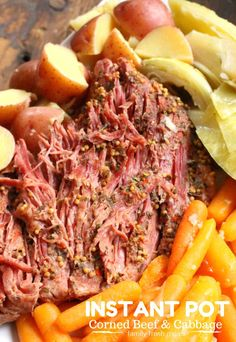 I can now make my traditional Crockpot Corned Beef and Cabbage in the instant pot. It cooks up tender in only 90 minutes, and cabbage in just minutes more.