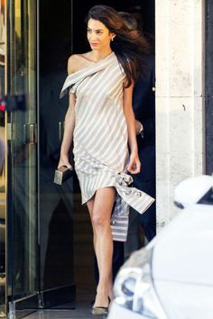Amal Clooney Fashion Style Tips for the Office: Stripes are Sexy