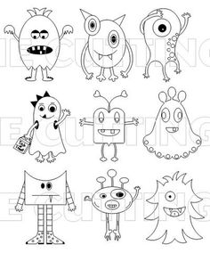 Monster Drawing Easy - Monsters So Cute And Easy Doodle Drawings Monster Drawing How To Draw A Little Monster Step By Step Drawings Tutorials How To Draw Cartoon Monsters Ho. Doodle Drawings, Doodle Art, Easy Drawings, Doodle Monster, Monster Drawing, Monster Sketch, Drawing For Kids, Art For Kids, Drawing Art