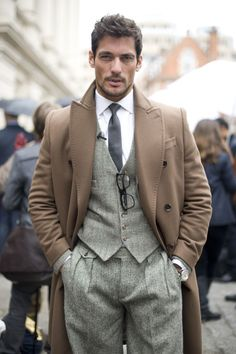 Mr. David Gandy - courtesy of Mr. Porter  I have a really strong attraction to the waistcoat in general, but it doesn't get much better than this.  <3 Women, Men and Kids Outfit Ideas on our website at 7ootd.com #ootd #7ootd