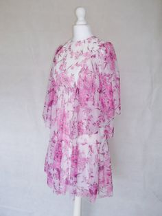 1960s 70s Floaty Summer Dress Angel Sleeves by DollybirdClothing, £46.00