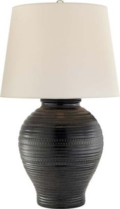 LOVE LOVE THIS OPTION!  A FAVORITE!  NOT SURE IF STILL AVAILABLE?   BLAIR TABLE LAMP This is the one on back order. Maybe can be purchased here: http://www.lightingcommerce.com/Visual-Comfort-RL3632BLK-WP-Ralph-Lauren-Blair-Table-Lamp-In-Black-Stoneware-With-White-Paper-Shade_p_75054.html?gclid=CJfUh5KfltMCFUiHswodRQAP0Q
