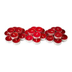 SINNLIG Scented tealight IKEA Creates atmosphere with a pleasant scent of sweet berries and warm candlelight.