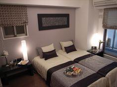 インテリアコーディネート ベッドルーム・寝室|落ち着きのある色は心をリラックスさせてくれますね。
