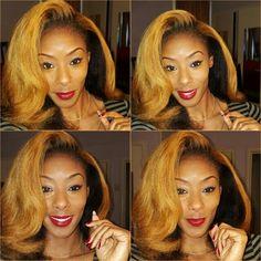 Bold Lip and a Soft Curl #Hair #Mac #Color #Lip #NaturalHair #Blowout #MoBrown