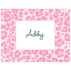 Boatman Geller Personalized Leopard Pink Foldover Notecards #pinparty
