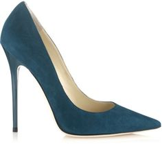 Jimmy Choo Green Anouk Pointed Toe Pumps €425 Spring 2014 #Choos #JimmyChoo #Shoes