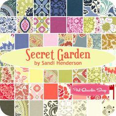 Secret Garden - Sandi Henderson  Who (online) will be selling this fabric line?