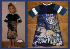Up Cycle Large Cats Tee Dress Size5/ 6 by stewiecakes on Etsy, $30.00