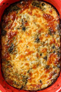 Spinach Madeline is a comforting side that is a spicy twist on traditional creamed spinach. Instead of just cream, the spinach is mixed with pepperjack cheese and spices, then baked to make this outstanding vegetarian side dish that pairs well with most m Burger Side Dishes, Vegetarian Side Dishes, Side Dishes For Bbq, Veggie Side Dishes, Vegetable Dishes, Vegetarian Recipes, Healthy Recipes, Christmas Vegetable Side Dishes, Healthy Soup