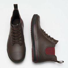 Tretorn waterproof shoes. great for walking to school.