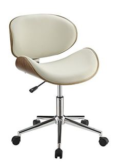 Coaster Home Furnishings 800615 Leatherette Office Chair, NULL, Ecru