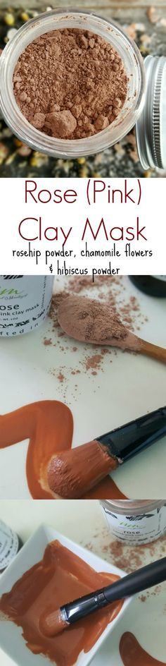 This beautiful rose clay mask is made with only the best and purest ingredients. It's a detox mask so it sucks out all the impurities and toxins that are stuck in your pores. Organic rosehip powder, h