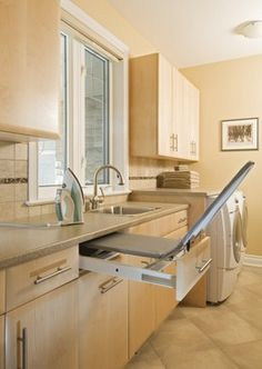 laundry room - pull-out ironing board