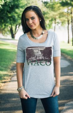 """""""WACO"""" half-sleeve tee // #SicEm, Waco!"""