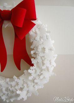 Perfect Felt Snowflake Wreath